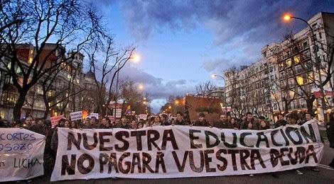 Manifrestación por la educación pública, Madrid 2013